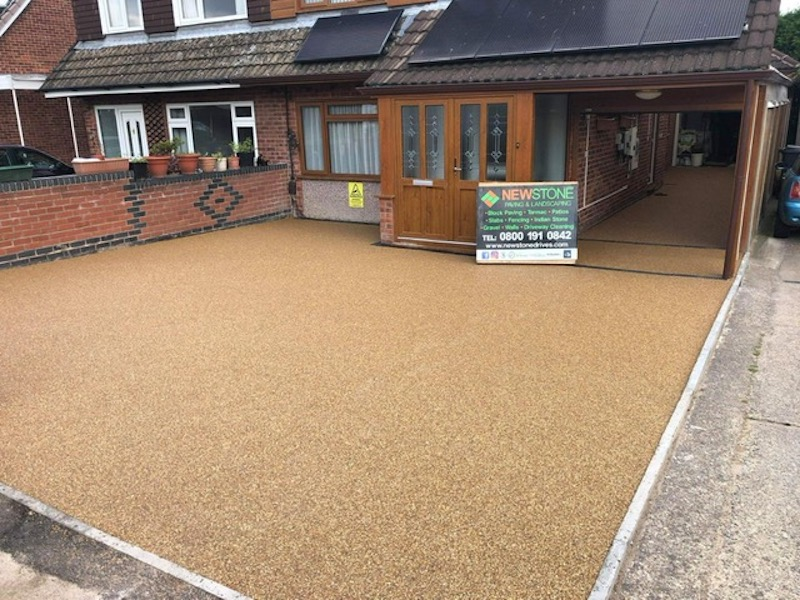 resin driveway completed in Rugby