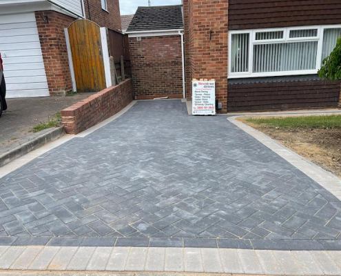 New Block Paving Driveway Brownsover Rugby